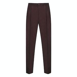 Burgundy Flannel Drawstring Trousers