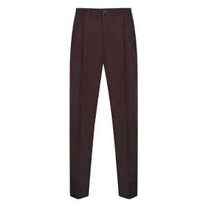 Burgundy Flannel Drawstring Trousers