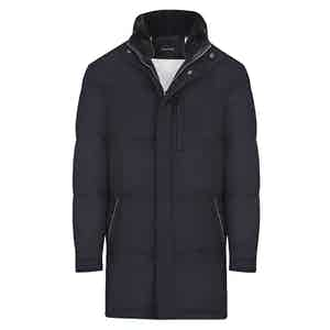 Dark Blue Cashmere Down Jacket