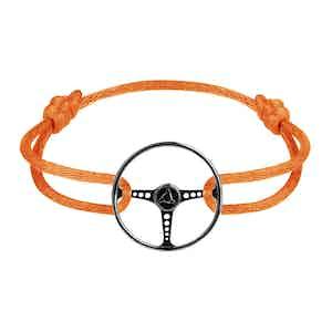 Le Volant Noir Sterling Silver on Fire Orange cord