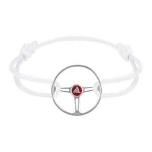 Stradale Steering Wheel Sterling Silver on White Fox cord