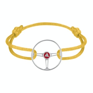 Stradale Steering Wheel Sterling Silver on Yellow Tang cord