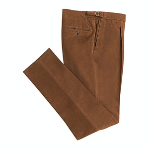 Brown Cashmere And Cotton Trousers