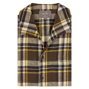 Brown Check Patchwork Shirt