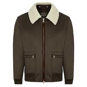 Brown Luxury Flight Jacket