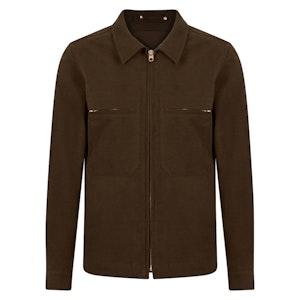 Brown Moleskin Mechanic Jacket
