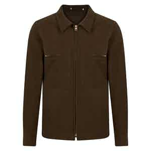 Brown Moleskin Mechanic Jacket