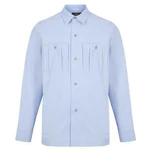 Blue Pinstripe Reporter Shirt