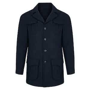 Dark Blue Sport Flannel Velluto Comfort Sahariana