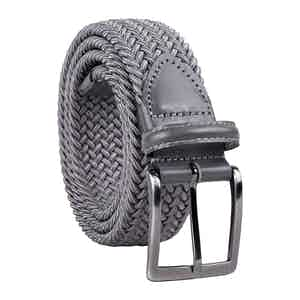 Grey Braided Viscose Belt Mauro