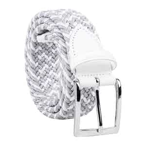 Grey/White Braided Viscose Belt Marcello