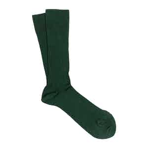 Green 3-Pack Scottish Lisle Cotton Socks Luis