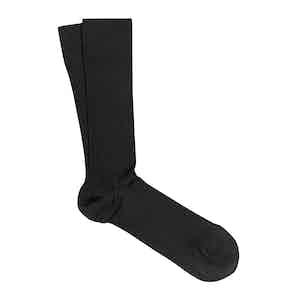 Black 3-Pack Scottish Lisle Cotton Socks Vicente