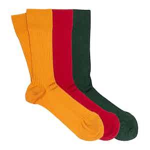 Bold Mix 3-Pack Scottish Lisle Cotton Socks