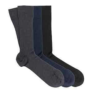 Classic Mix 3-Pack Scottish Lisle Cotton Socks