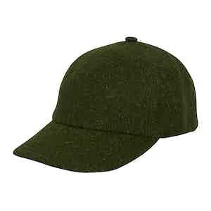 Green Wool Soft Brim Baseball Cap