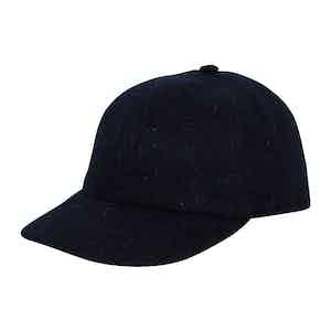 Navy Wool Soft Brim Baseball Cap