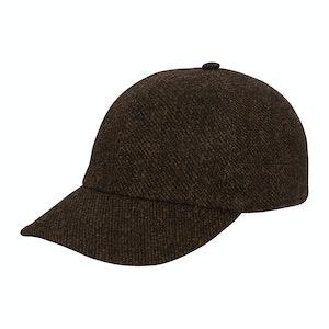 Brown Wool Soft Brim Baseball Cap