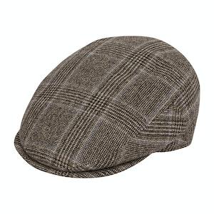 Grey VBC POW Check Flannel Flat Cap