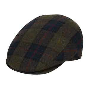 Blue & Green VBC Tartan Flannel Flat Cap