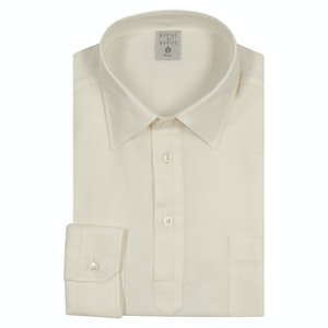 Off White Brushed Cotton Polo Shirt