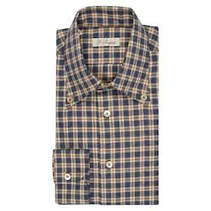 Blue, Cream and Bordeaux Button-Down Shirt