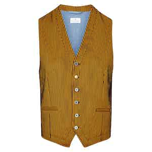 Orange & Black Classico Striped Waistcoat