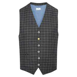 Grey Classico Check Waistcoat