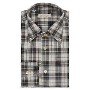 Brown Prince of Wales Check Anacapri Shirt