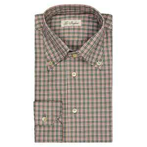 Green Tartan Button-Down Shirt