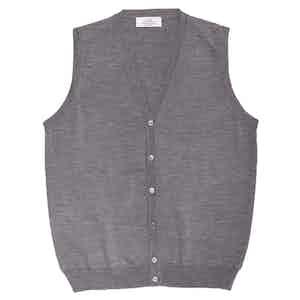 Light Grey Merino Wool Waistcoat