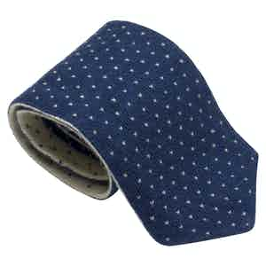 Blue and White Wool Maglia Tieone size