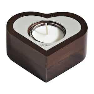 Walnut Heart Tealight
