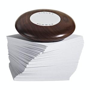 Walnut Pebble Paperweight