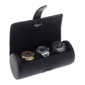 Berkeley Black Three Watch Roll