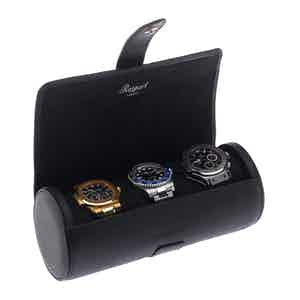 Berkeley Black Three Watch Roll