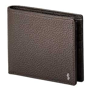 Espresso Cachemire Leather 8-Card Billfold