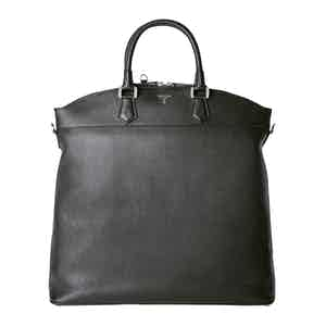 Black Cachemire Leather Leisure 14 North/South Bag