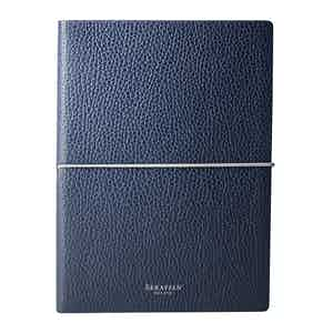 Navy Cachemire Leather Notebook