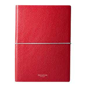Amaranth Cachemire Leather Notebook