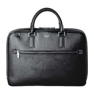 Eclipse Black Evoluzione Leather Extra Slim Briefcase