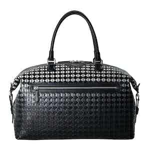 Black Mosaico Nappa Leather Travel Bag