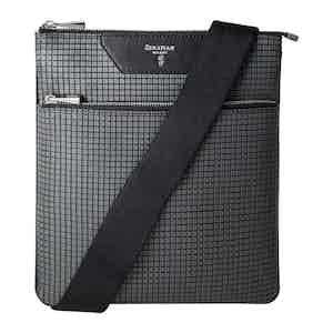Grey Stepan Flat Messenger Bag