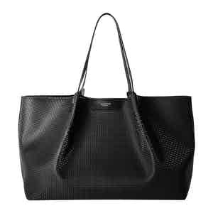 Black Stepan & Leather Secret Tote Bag