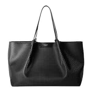 Black Stepan & Leather Secret Tote Bag