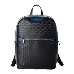 Black Stepan & Cosmo Blue Canvas Zip Backpack