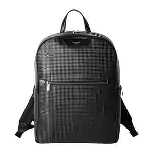 Black Stepan & Leather Backpack