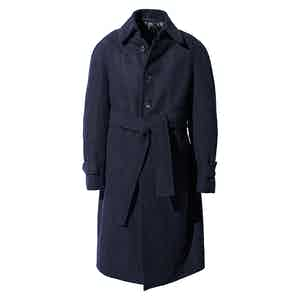Navy Wool Raglan Coat