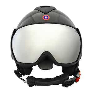 Silver Carbon Kevlar Helmet