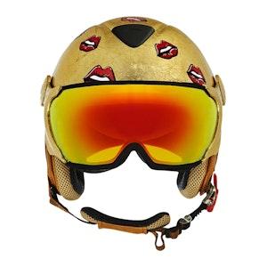 Gold Leaf Carbon Kevlar Kiss Kiss Helmet